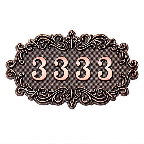 Türschilder Nach Wunsch Hausnummernschild Vintage Hausnummer Personalisierte Türnummer Wandaufkleberer Hausschild Mit Wunsch Gravur Haustürschild Hausnummern Schild für Haustür Garten Hotel -