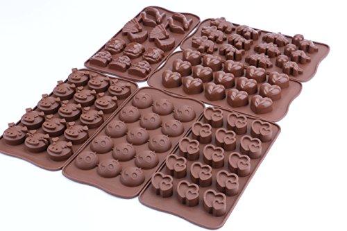Bekith 6er silikon Schokoladenform,Pralinenformen