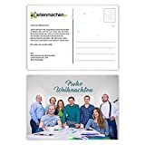 60 x Weihnachtskarten Firmen Geschäftlich Business Grußkarten Weihnachten - Foto Postkarte