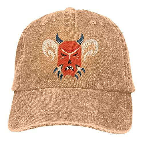 Lornvw Dämon Unisex gewaschen einstellbare Vintage Cowboyhut Denim Baseball Caps Unisex1 -