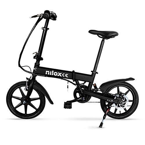 Nilox Doc X2, Bicicletta Pieghevole a Pedalata Assistita, Velocità 25km/h, Unisex, Nero