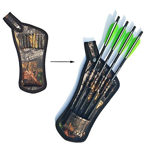SHARROW Bogenschießen Pfeilköcher Pfeile Tasche Halter Gürtel Köcher für 8pcs Armbrust Pfeile Carbonpfeile - Armbrust Köcher