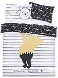 Parure de lit en Noir et Blanc Winnie l'ourson 200x200 Disney