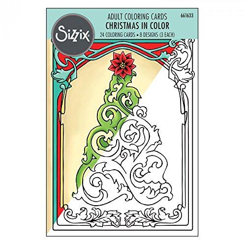 Sizzix 661633Weihnachten Färben Karten von Jen Lang -