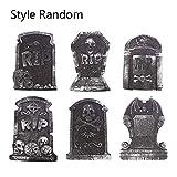 chenguId Lapidi del cimitero di Halloween in Schiuma Decorazioni di Halloween e Forniture per Feste (Confezione da 6, Stile Casuale)