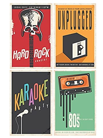 Ensemble de posters :, Carton, Music, 11-Inches x 17-Inches