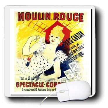 3dRose LLC Mousepad, 20 x 20 x 0,6 cm, Vintage French Moulin Rouge Poster (mp_153833_1)