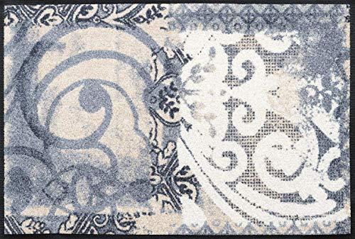 wash+dry Fußmatte, Acryl, Grau, 50x75 cm