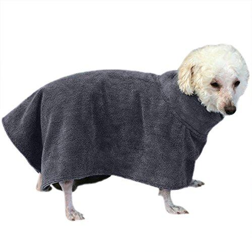 Soffietto da bagno per cani da compagnia cappello da bagno abbronzante ad acqua assorbente ad alta velocità accappatoio per asciugatura rapida per cani da compagnia
