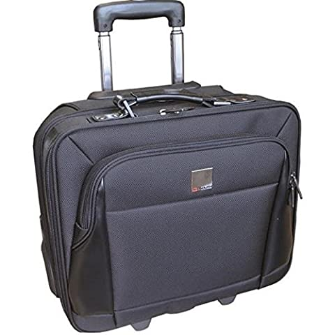Monolith Executive Business Laptop Overnight Case Wheeled with Telescopic Handle Black Ref 3005