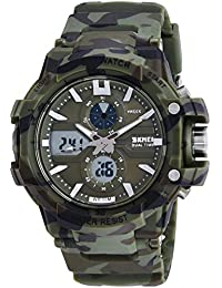 Skmei Analog-Digital Black Dial Men's Watch - 990-Camo