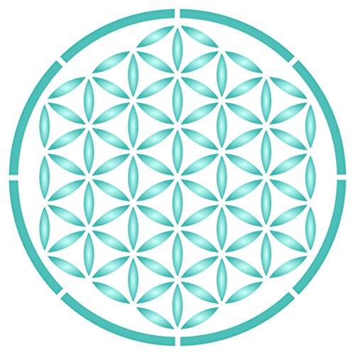 Blume des Lebens Schablone - wiederverwendbar heilige Geometrie Mandala Wandschablone - Verwendung für Papierprojekte, Scrapbooks, Tagebuch, Wände, Böden, Stoff, Möbel, Glas, Holz usw. L