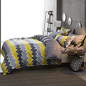 bettw sche set quilt design in gelb und grau f r einzel und doppelbetten erh ltlich 50. Black Bedroom Furniture Sets. Home Design Ideas