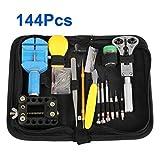 ytm (TM) 144pcs Portable Kit de herramientas de reparación de relojes Set Back Case Opener Ajustador Remover Primavera Pin Bar