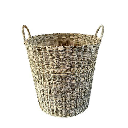 Wäschekorb Kind Spielzeugkorb Wäschesack Laundry Basket Kunststoff Weben hart sortieren Lagerfass Mehrfache Farbauswahl ZHANGQIANG (Farbe : Rice Color, größe : 38 * 40)