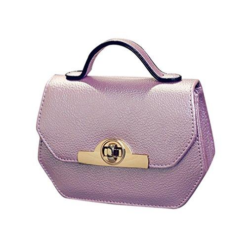 4931e93e3035f JOTHIN Mode Schultertasche mit Henkel Handtasche Kette für Damen Klein  Helles Lila