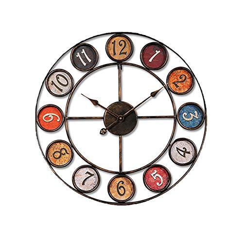 Xbr 60 cm grande 3d orologio da parete moderni vintage silenzioso retro design moderno orologio da muro per cucina/bagno/soggiorno/ristorante/camera da letto