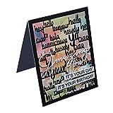 Teydhao DIY Stencil Prägeschablone zum Schneiden des Metalls Buchstabe Fondo Prägestempel Verzieren von Metallverzierungen für Greeting Card Schablonen FAI von Te Scrapbooking Album