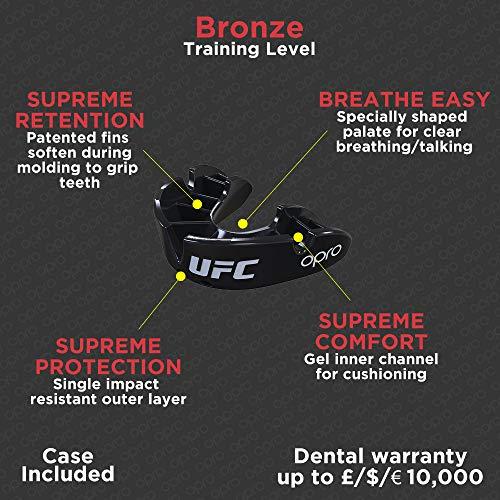 OPRO Protector bucal UFC Adulto para MMA, Boxeo, BJJ, Karate y Otros...