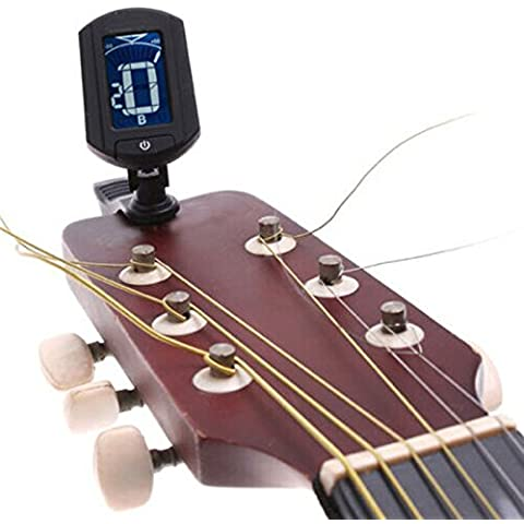 Mebare (TM) New Brand clip-on sintonizzatore elettrico per chitarra cromatica Basso Violino Ukulele portatile universale Guitar Tuner