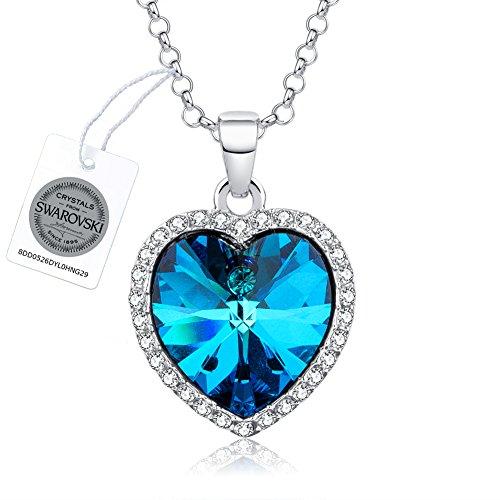 """Collana donna veecans """"cuore impavido"""" collana con pendente cuore realizzata con cristalli swarovski®, prolunga 40 + 5 cm, regalo per la festa della mamma"""