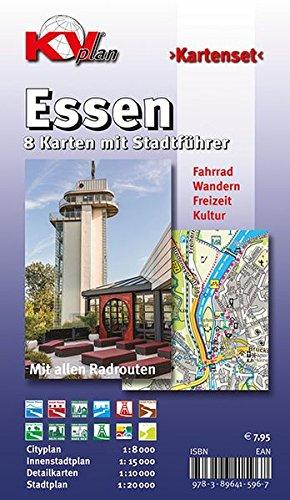 Essen: Kartenset mit Stadtführer (KVplan-Kombi-Reihe)