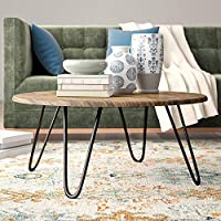 Aspect Brockton Round Coffee Table, Wood, Vintage 1, 80 x 80 x 35 cm