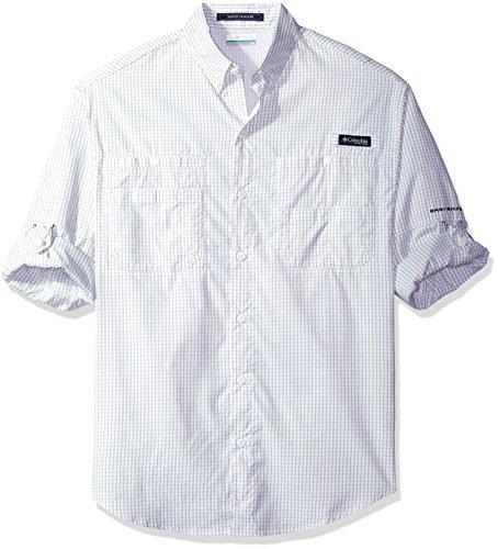 Tamiami Angeln Shirt (Columbia Herren Super TAMIAMI Long Sleeve Shirt Small Safari Gingham)