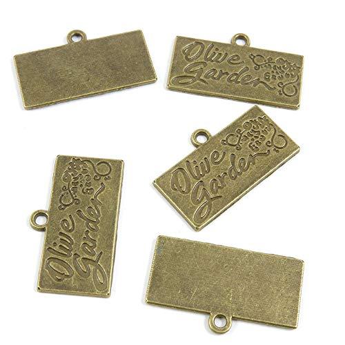 Schmuckanhänger U2UO2K Antik Bronze Ton Olive Garten Tag Schilder Basteln Basteln Basteln Perlen antique bronze -