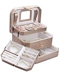 Rowling-Boîte à bijoux Coffre à Bijoux Or Boîte à Bijoux avec mallette Boîte à maquillage et cosmétique ZG-223