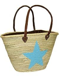 Capazo Bolso Grande Lentejuelas Estrella Menorca