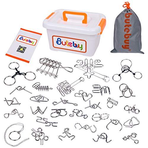 Mitlfuny Auto-Modell Plüsch Bildung Squishy Spielzeug aufblasbares Spielzeug im Freien Spielzeug,Butebuy Verschiedene Denksportaufgaben Metalldraht-IQ-Puzzles mit ()