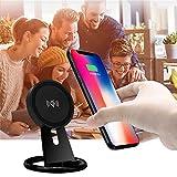 2018 Wireless Fast Ladegerät Halterung sunnymi QI Wireless Ladepad Lade für iPhone X 8 Plus für Samsung S8 (Schwarz, 79 * 85 mm)