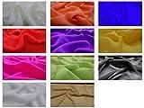 Fabrics-City Feiner Chiffon Stoff Leichtfallend Stoffe