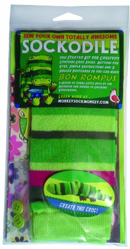 Monkey Sock Monkey Green Soft Sock Crocodile Kit, Bon Rompus (Does Not Include Stuffing) (Ein Sock Monkey)