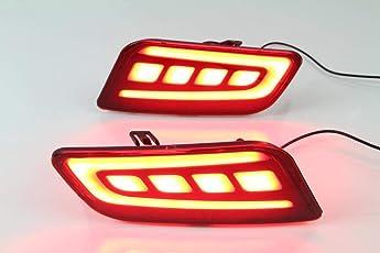 Automaze Rear Bumper LED Reflector Brake Light For Ford Endeavour 2016-2018 Models, Set of 2 Pc