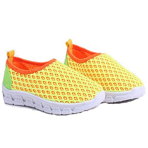 Estamico bambini colorato ad asciugatura rapida Mesh traspirante bambino scarpe Yellow