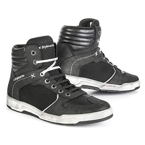 STYLMARTIN Motorradschuhe ATOM Sneaker Mesh schwarz mit Knöchelprotektoren Größe 44