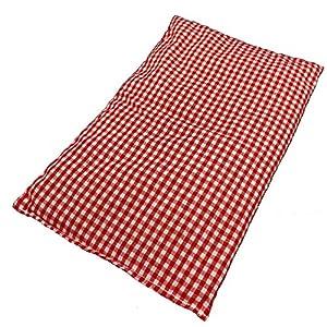 M&H-24 Kirschkernkissen Wärmekissen Körnerkissen Kirschkernsack Wärmekompresse – Kirschkern-Kissen für Mikrowelle Backofen Wohltuende Trockene Wärme für Kinder Erwachsene 20×30 cm Groß Rot