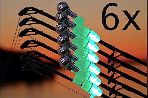 Wagners - Sport LED Angelglocken Set - Bissanzeiger mit integriertem LED Licht für die Angelspitze - Nachtangel Bissanzeiger Aalglocke (6)