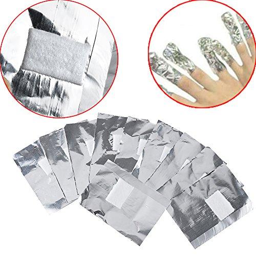 Vanyda 200foglietti per la rimozione dello smalto in gel acrilico, nail art, disegni sulle unghie