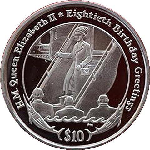 Îles vierges britanniques 2006Queen Elizabeth II Silver Proof $10pièce de