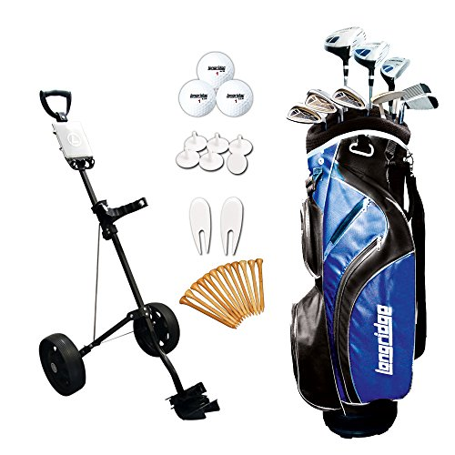 Longridge Vector Package x - Juego completo de palos de golf(trolley, híbrido, regular, para diestros), talla 121 x 46 x 25.5 cm