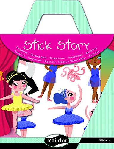 Maildor AF012O Un kit de gommettes avec décor Stick Story - Danseuses
