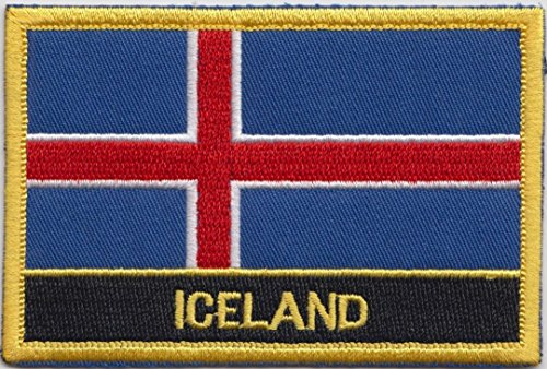 Islandia Bandera Bordado Rectangular Insignia Parche/Coser