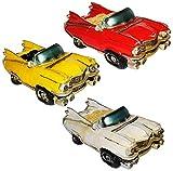 Sparbüchse - Oldtimer / altes Cabrio Auto - stabile Spardose aus Kunstharz - Fahrzeug Sparschwein lustig witzig Kuba / New York NYC yellow Cab - Amerika - Autos / Reise - Reisekasse Urlaub Reisen