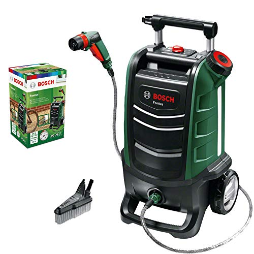 Bosch Akku Outdoor Reiniger Fontus (ohne Akku, 18 Volt System, max. Druck: 15 bar, 15 L Wassertank, im Karton)