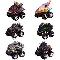 ZJQY Tirador de Espalda Dinosaurio Juguete Coches, 6 Packs