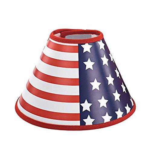 American Flagge Recovery Hund Katze Konus-, verstellbar Pet Membran-für Katzen und Hunde Schutz Berühren Stiche (Amerikanische Flagge, Hund, Kragen)
