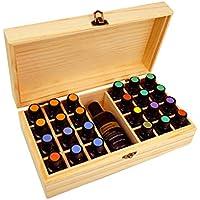 Holz Aufbewahrung ätherisches Öl Box 24Slot mit stabilem Riegel und Scharniere für 5ml, 10ml, 15ml Öl Flaschen... preisvergleich bei billige-tabletten.eu